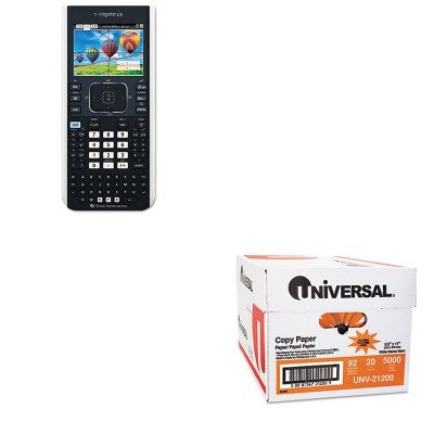 KITTEXTINSPIRECXUNV21200 - Value Kit - Texas Instruments TI-Nspire CX Handheld Graphing Calculator with Full-Color Display (TEXTINSPIRECX) and Universal Copy Paper (UNV21200)