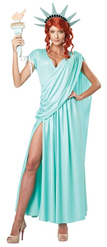 California Costumes Women's Lady Liberty Adult, Mint Green, Small ()