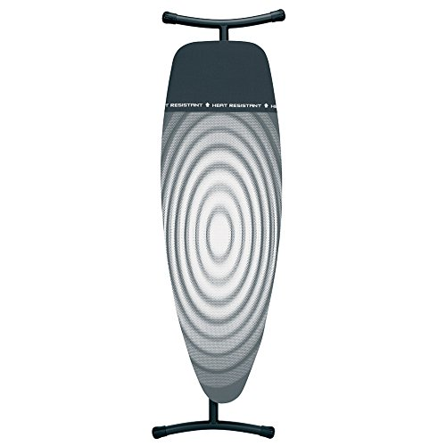 Brabantia Ironing Board with Iron Parking Zone, Size D, Extra Large - Titan Oval (Ironing Cover)
