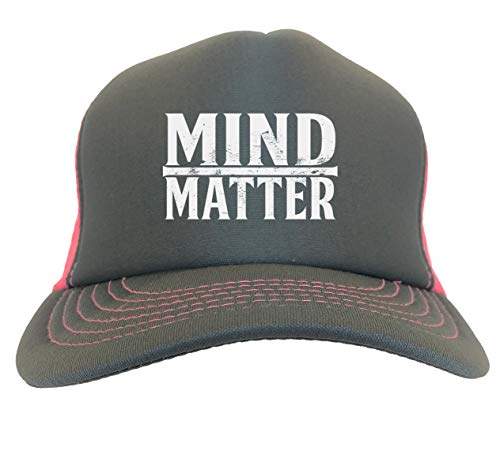 Mind Over Matter - Gym Gains Athlete Two Tone Trucker Hat (Charcoal/Neon Pink)