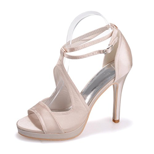 E Con L Da Tacchi Casual yc 19 Office Party 5915 Donna Champagne Carriera Alti 6q7vU61