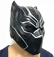 Black Panther Cosplay Máscara Cos Latex Disfraz Headgear Halloween ...