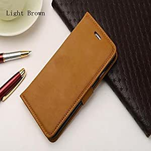 Mini - Retro PU Leather Cover with Stand and Card Slot for iPhone 6 , Color-Black