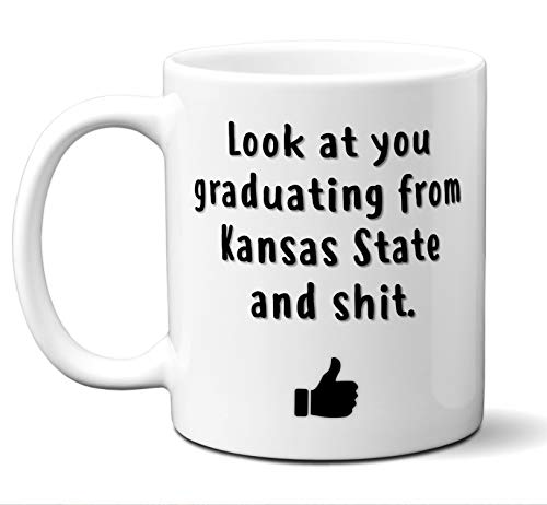 College Graduation Gifts. Kansas State University (ksu) Grad Coffee Mug Cup Men Women Him Her School Students Class 2019. Funny School Grad Diploma Academic Degree Congratulations. 11 - State University Gifts Kansas