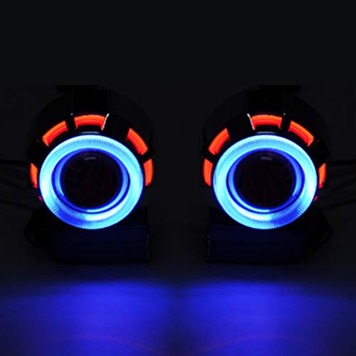 Liquor Blue Red Double Angel Eyes 20 Bi Xenon Ballast Headlight For