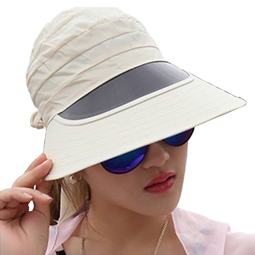 ae81efcfd21 Autek Popular New Ladies Solar Face Shield Cycling Sun Hat Sun cap  Uvioresistant Foldable hat (Beige) - Buy Online in Oman.