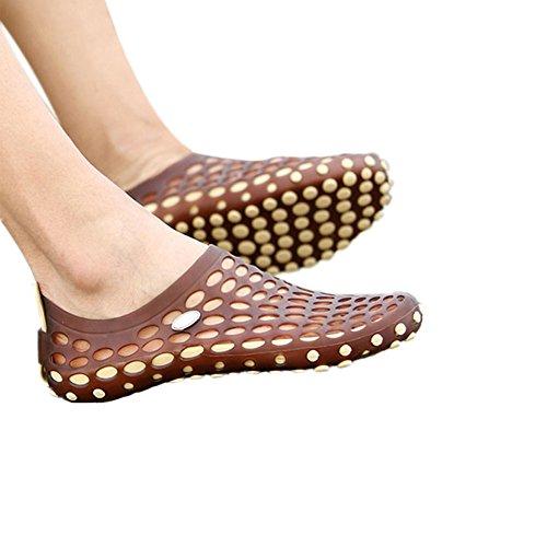Zhuhaixmy Männer Höhle ausholen Sandalen Atmungsaktiv Strandschuhe Hausschuhe Cool Schuhe Khaki w/Braun