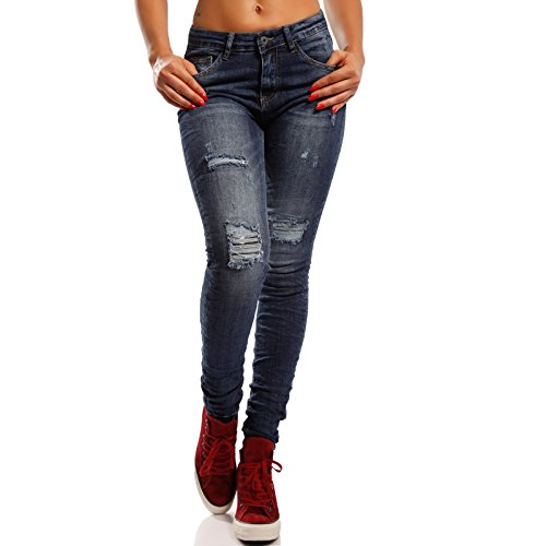 Young Donna Basic Skinny Jeans fashion Blau Ff4WwFxAn