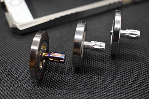 MetonBoss Stainless Steel Performer Spinning Top with Tungsten Carbide Bearing Ball & Precision Milled Titanium stem | Gift for him EDC (1. Stainless Steel - Magnesium Stem) by MetonBoss (Image #1)