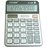 Calculators CY12M, 12 Digit Large LCD Display Big Button, Handheld for Daily and Basic Office, Solar and Battery Dual Power