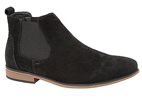Foster Footwear - Stivali Chelsea Ragazzi Unisex adulti uomo donna Black