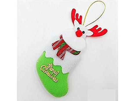 Decoraciones de Navidad Calcetines de Navidad de Tela Cubiertos de Horquilla Bolso de decoración de árbol