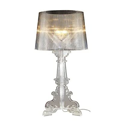 Crystal Clear Bedroom Table lights Kartell Bourgie Ghost Contemporary  READING Table Lamp Study Room Desk lights (Clear)