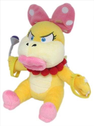 Sanei Super Mario Plush Series Wendy O. Koopa Plush Doll, 7