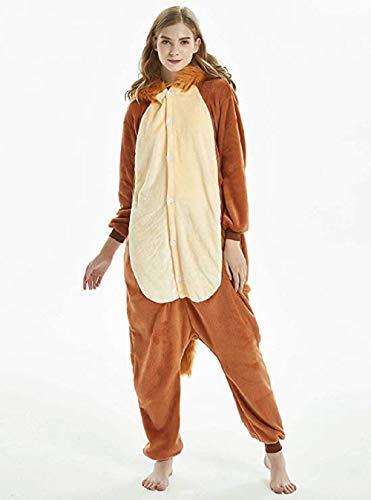 NOUSION Licorne Unisex Adult Pajamas, Cosplay Christmas Unicorn Sleepwear Onesies Outfit (XL, Lion)