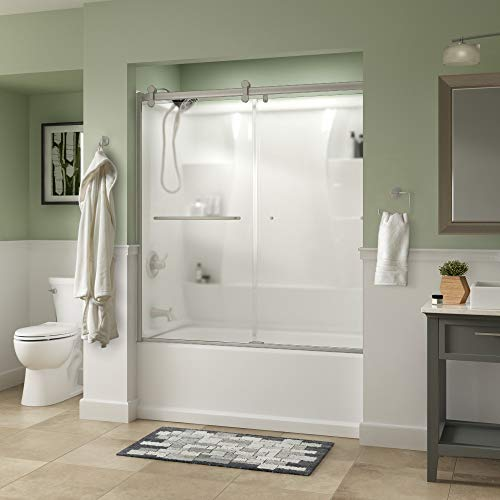 Tub Door Obscure Glass - Delta Shower Doors SD3927440 Classic Semi-Frameless Contemporary Sliding Bathtub, 60