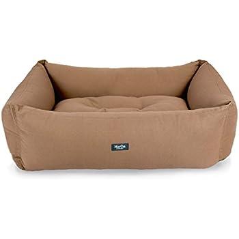 Amazon.com : Martha Stewart Brushed Canvas Cuddler Pet Bed