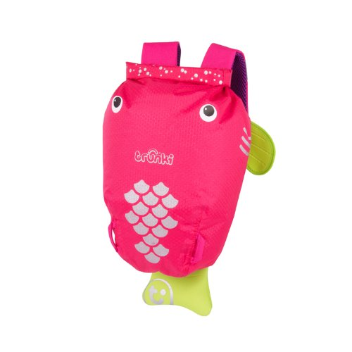 Trunki PaddlePak Back Pack - Water Resistent Kids Backpack (Flo), Pink