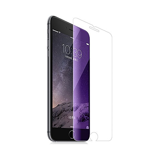 iPhone 7 Plus Screen Protector Pinhen HOCO Coverage Tempered Glass Screen Protector with Anti-Fingerprint/Smooth Touch/Eye Protection Matt Back Film for Apple Iphone 7 Plus (iPhone7 Plus Blue)