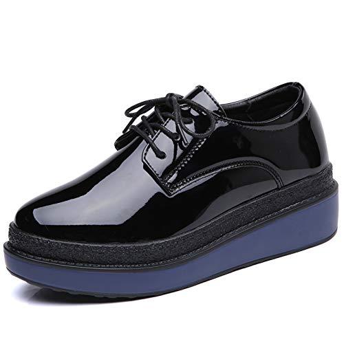 Plataforma Estudiante Zapatos Zapatos de Moda de Mujer nuevos Zapatos de de Hasag Cuero Moda de de BgAqwRR