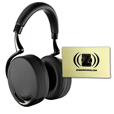 Parrot PF560103 Touch-Activated Bluetooth Headphones (Black Gold) Bundle with Custom Designed Zorro Sounds Cleaning Cloth