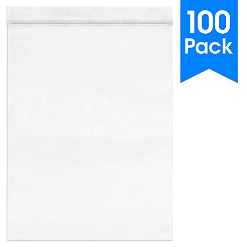 (100 Count - 9 X 12, 2 Mil Clear Plastic Reclosable Zip Poly Bags with Resealable Lock Seal Zipper by Spartan Industrial (More Sizes Available))