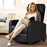 YAHEETECH Recliner Chair PU Leather Recliner Sofa