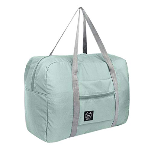 Toimothcn Large Duffel Bag Foldable Travel Bag for Man Women Luggage Bags(Light Blue,One) ()