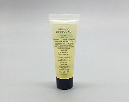 ECO-AMENITIES-Transparente-Tubo-Flip-Cap-Envueltas-Individualmente-30ml-Shampoo-72-Tubes-per-Caso