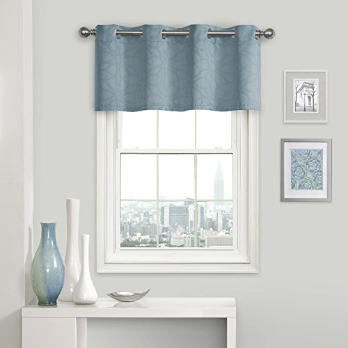 ECLIPSE Kingston Short Valance Small Window Blackout Curtains Bathroom, Living Room, and Kitchens, 52