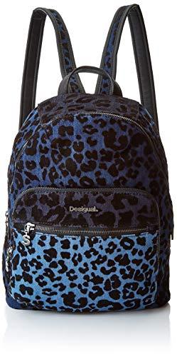 Desigual - Bols_poppins Lima, Bolsos mochila Mujer, Azul (Azul Cobalto), 11x34x25 cm (B x H T)