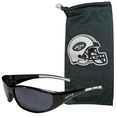 NFL New York Jets Adult Sunglass and Bag Set, Green