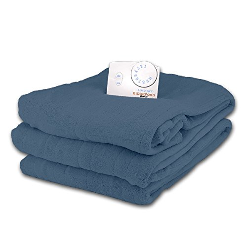 Best Review Of Biddeford Soft Microplush Twin Size Electric Heated Blanket (Royal Blue)