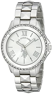 U.S. Polo Assn. Women's USC40081 Rhinestone-Accented Silver-Tone Watch