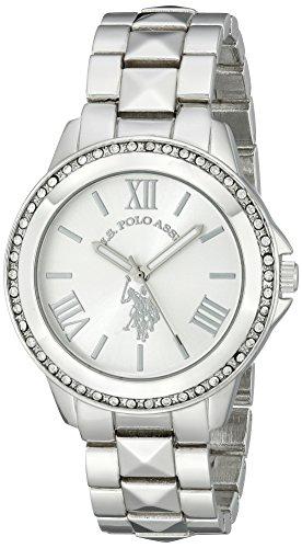 (U.S. Polo Assn. Women's USC40081 Rhinestone-Accented Silver-Tone Watch)