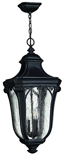 Hinkley 1312MB Traditional Three Light Hanging Lantern from Trafalgar collection in Blackfinish, Collection Hanging Lantern