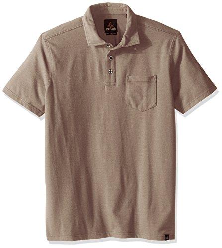 prAna Men's Brock T-Shirt, Small, Mud