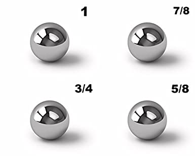 """Assorted Coin Ring Making Steel Balls 3//4/"""" /& 5//8/"""" Assortment Of 1/"""" 7//8/"""""""
