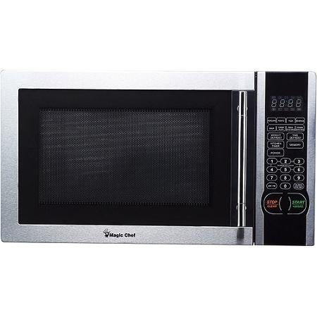 Digital Microwave, Stainless Steel 6 PreProgrammed, 1-touch Menu Buttons 1.1 Cu. Ft.