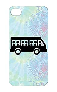 TPU Rugged For Iphone 5s Bus Van Tourbus Tour Public Transportation Schoolbus Vehicles School Black Protective Case