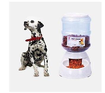 SoAmigo Alimentador Automático para Gatos Perros Mascotas,Alimentador automático Grande de 3.5L Perro de Mascota Perro de Gatos Bebedor de Agua Dispensador ...