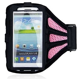 Premium IPhone 4 4G 4S Sports Jogging Running Workout Armband Case Cover Skin with net (Rose)