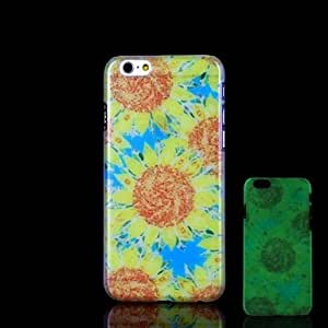 QJM Flowers Pattern Glow in the Dark Hard Case for iPhone 6