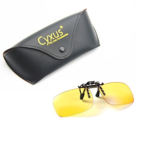 Price comparison product image Cyxus Blue Light Filter UV Blocking Glasses [Clip On] Anti Eye Strain (Sleep Better) , Computer/Cell Phone/PC Game/TV Safety Protection Block Radiation Reading Eyewear