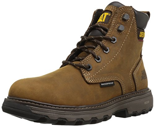 Caterpillar Men's Precision Waterproof Work Boot, Dark Brown, 9 M (Dark Brown Waterproof Footwear)