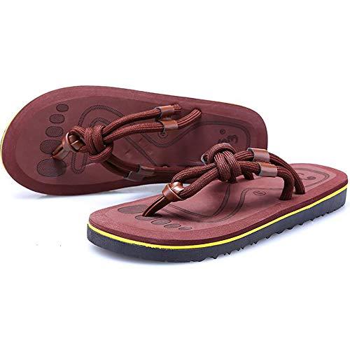 Tongs Romain Chaussons Extérieur Plat Sandales Été De Chaussures Mode Couple Shangxian Brown Sport Casual Plage qt5SwOxE