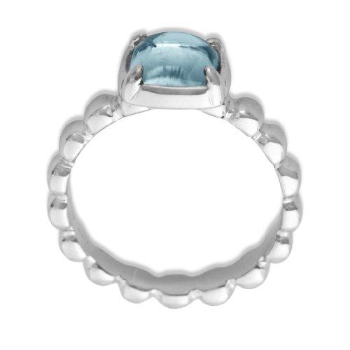 ByJoy - JA175 - Bague Femme - Argent 925/1000 4.65 gr - Topaze Bleu