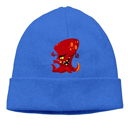 Angry Octopus Unisex Cool Hedging Hat Wool Beanies Cap RoyalBlue By Carter Hill