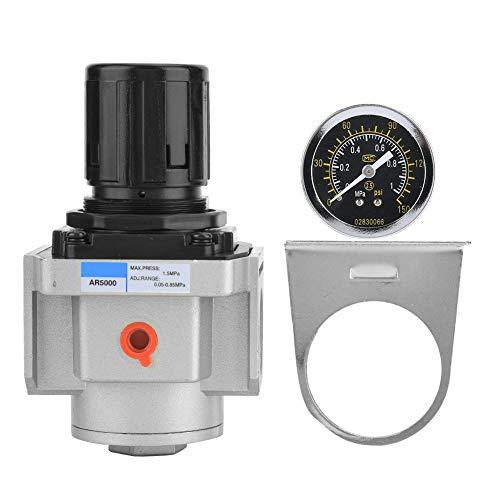 AR5000-10 Pressure Reduce Valve, SMC Air Source Compressor Adjustable Pressure Regulator Reduce Valve Used for Pneumatic Instruments and Pneumatic Equipment