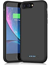 AOPAWA Battery Case for iPhone 6 Plus/6s Plus/7 Plus/8 Plus, Upgraded [8500mAh] Charging Case Rechargeable Battery for iPhone 8plus/7plus/6 Plus/6s Plus (5.5 inch) Extended Battery Charger Case-Black